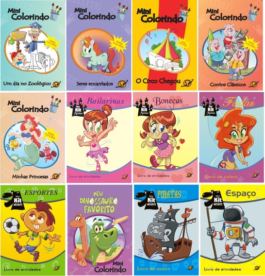 100 Livros Diversos Colorir / Atividades Infantis Atacado
