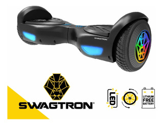 Hoverboard Evo Con Ruedas Led Negro Swagtron