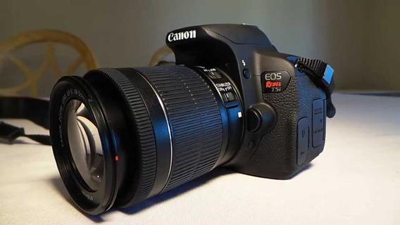 Canon T5i + Lente 18 - 55mm + Lente 50mm 1.8 + Duas Baterias