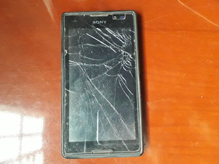 Caixa Com Celular Sony Xperia C Black
