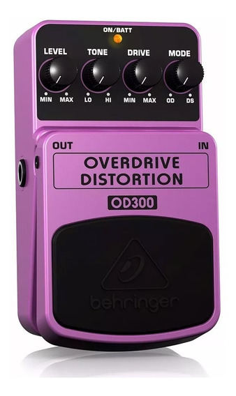 Pedal Guitarra Overdrive Distortion Behringer Od300 Roxo