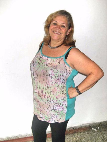 Musculosa De Gasa Estampada Talles Grandes Especiales