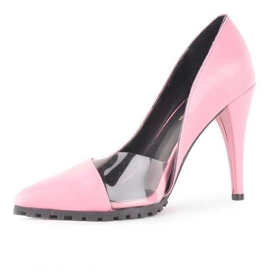 Zapatos Mujer De Cuero Taco Alto 6 Cuotas - Nina - Ferraro