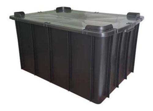 Caixa Plástica Organizadora Grande 130l - Com Tampa