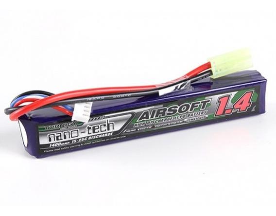 Bateria Lipo 2s Para Airsoft 7.4v 1400mah Turnigy Litio