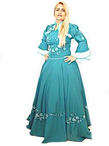 Vestido De Prenda Verde Esmeralda Bordado