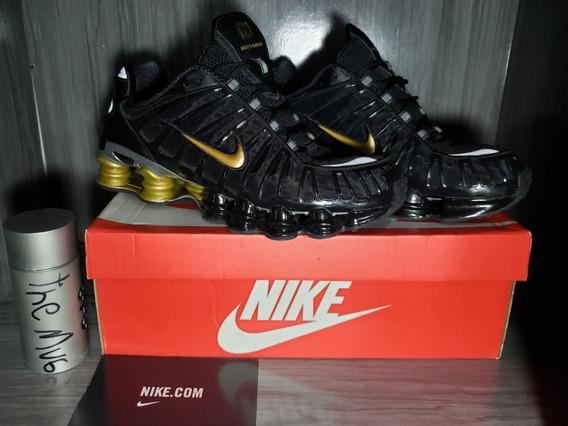 Tênis Nike Shox Tl Neymar Preto E Dourado
