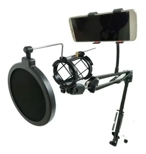 Brazo Para Microfono + Anti Pop + Shockmount + Sop Celular