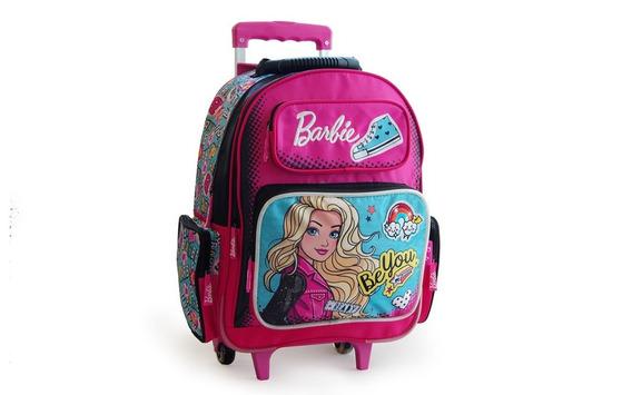 Mochila Barbie Be You Con Carrito 17