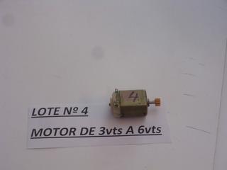 Antiguo Juguete Lote Nº 4 Motor De 3vts A 6vts Video Cº 4