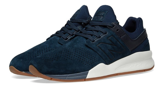 Tênis New Balance 247 Luxe Leather Pack Dark Blue Ms247lt