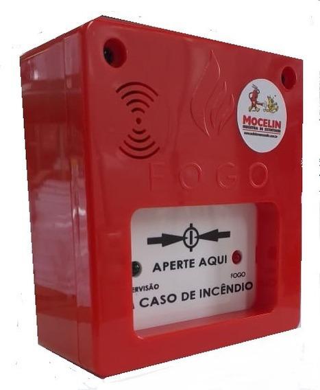 Acionador De Alame De Incêndio Segurança Com Sirene Aprovado