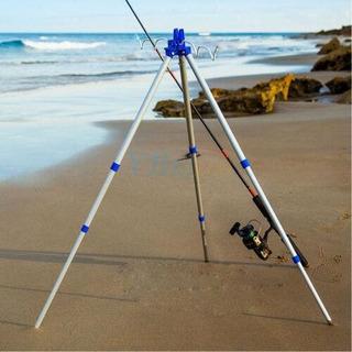 Caña De Pescar Telescópica Trípode Resto Fr Mar Playa O-0098