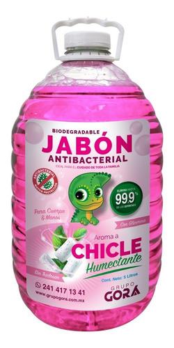 Imagen 1 de 5 de Jabón Líquido Antibacterial Para Manos Olor A Chicle 5 Lts