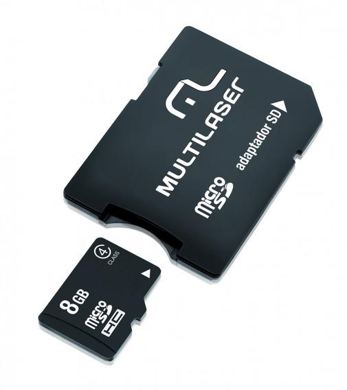 Multilaser Cartão De Memória Micro Sd 8gb + Adaptador Sd Mc0