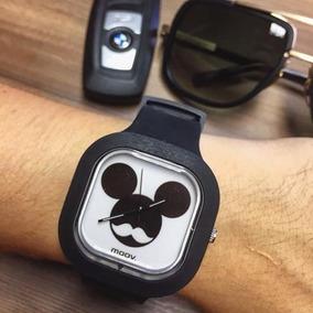 Relogio Mickey Silicone Personalizado Mustache