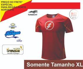 Camisa Super Herói Flash 3d Man Xl Veste M Ou G No Brasil
