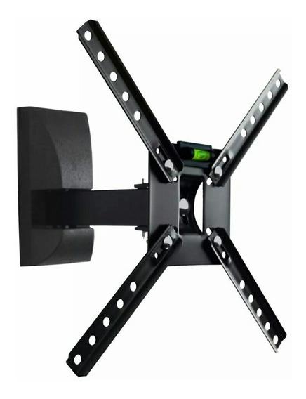 Kit 04 Suporte Art Tv Movel Brasforma Sbrp130 Preto 10 A 55