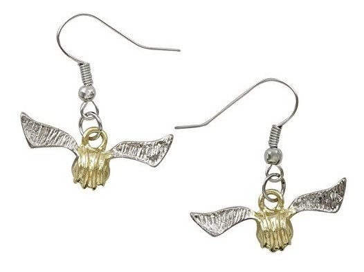 Pendientes De Snitch De Oro De Harry Potter