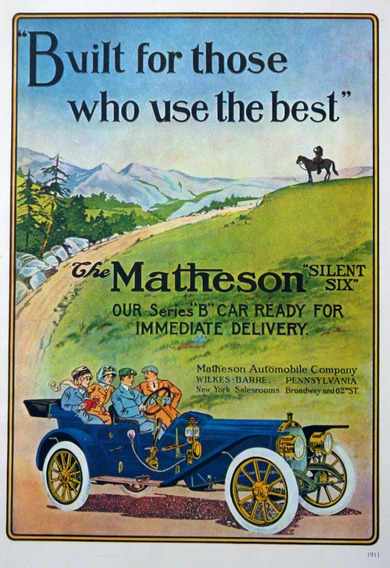 Poster The Matheson 1911 Y The Pierce Arrow 1910