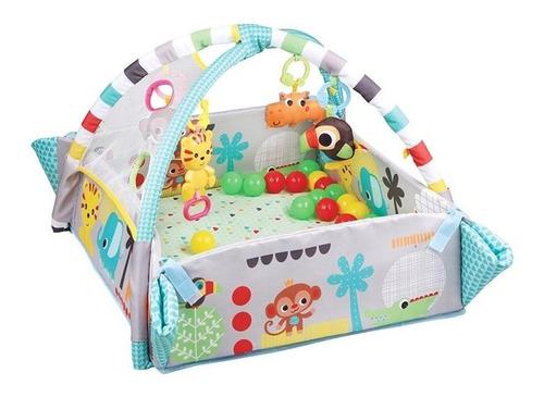 Imagen 1 de 8 de Gimnasio De Bebé Pelotero Cuadrado Rígido Con Arcos