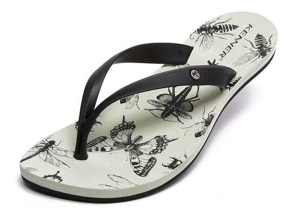 Chinelo Kenner Feminina Lips Insects Original