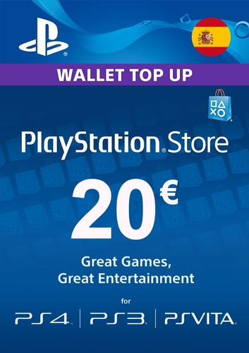 Playstation Store Tarjeta 20 Euros Código Psn Region España