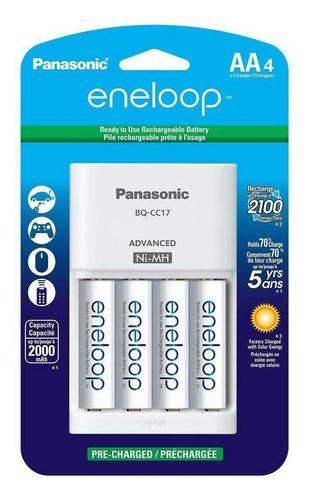 Kit 4 Baterías Aa 2000mah Recargables + Cargador Panasonic