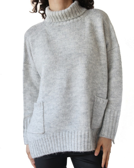 Sweater Polera Tejido Mujer Importado Bien Abrigado