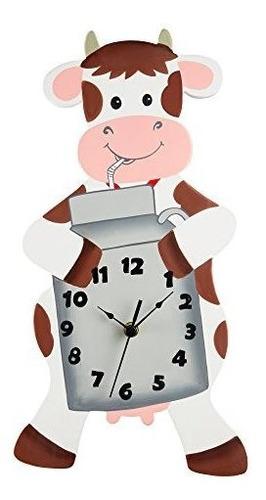 Campos De Fantasia - Reloj De Pared Vaca Feliz Granja