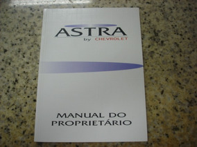 Manual Do Proprietário Astra 1995 93236673 Novo