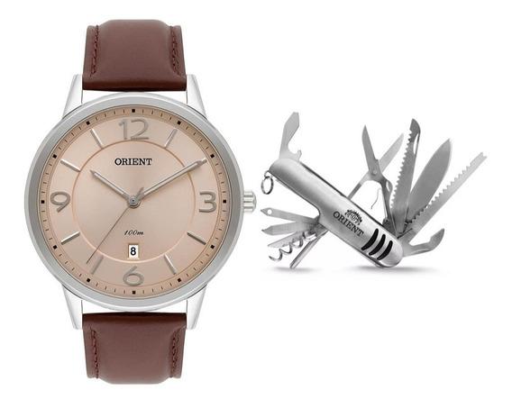 Kit Relógio Orient + Canivete Mbsc1027 Kv58
