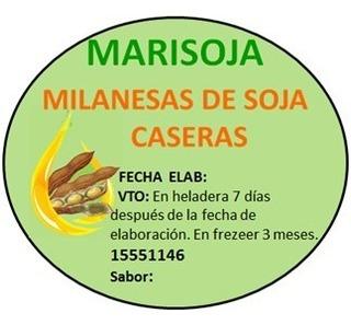 Milanesas De Soja. 30 Paquetes