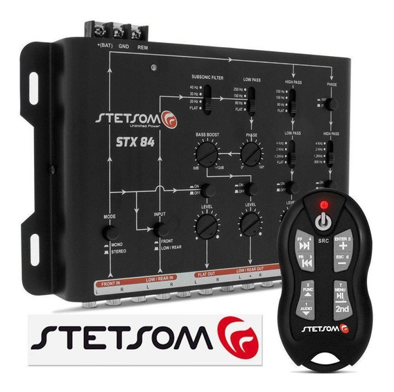 Crossover Stetsom Stx84 + Controle A Longa Distancia Sx2