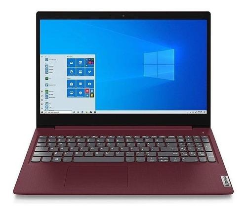"Imagen 1 de 2 de Laptop Lenovo IdeaPad 15IML05  cherry red 15.6"", Intel Core i3 10110U  8GB de RAM 1TB HDD, Intel UHD Graphics 620 1366x768px Windows 10 Home"
