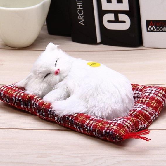 Lindo Mini Petz Filhote Pelúcia Gatinho Branco/marrom 14cm