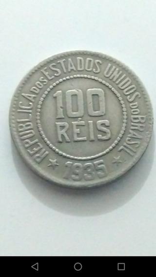 Moeda De 100 Réis De 1935 República Estados Unidos Do Brasil