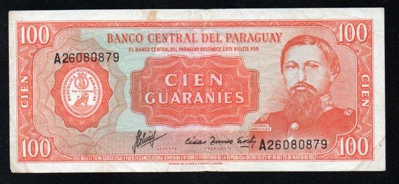 Paraguay Billete 100 Guaranies Año 1952 P#199