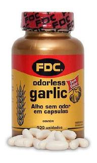 Odorless Garlic Óleo De Alho Fdc 100 Cápsulas Sem Odor