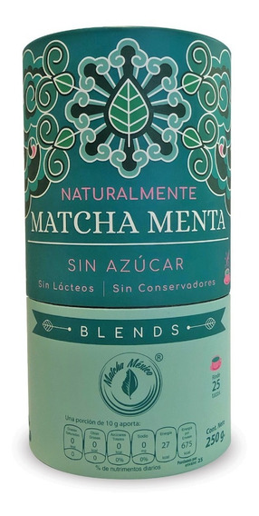Matcha Con Menta - Sin Azúcar - Para Lattes Y Frappes
