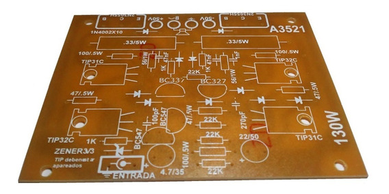 Plaqueta Circuito Impreso Amplificador 130w Rca A3521