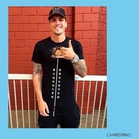 Camisa Long Line Lotus Black