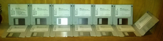 Windows 95 Original Microsoft 13 Diskettes Inglés -coleccion