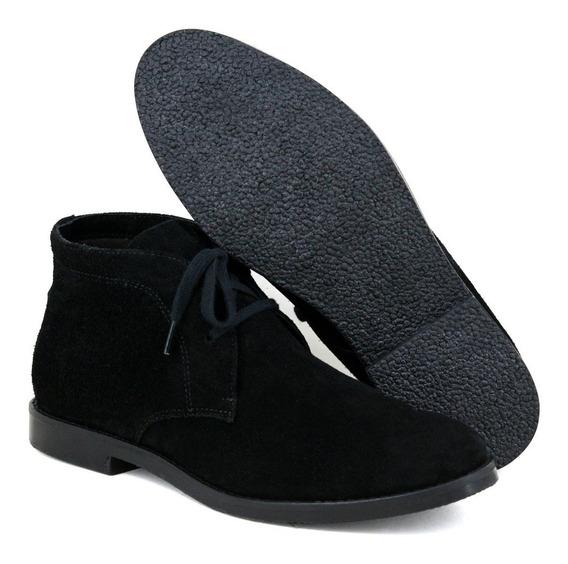 Botina Luxury Desert Boots Estilo Chelsea Casual Com Cadarço