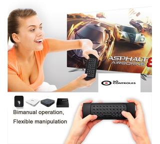 Controle Air Mouse - Android-teclado Iluminado-lig E Desl.a Btv Tigre Supertv
