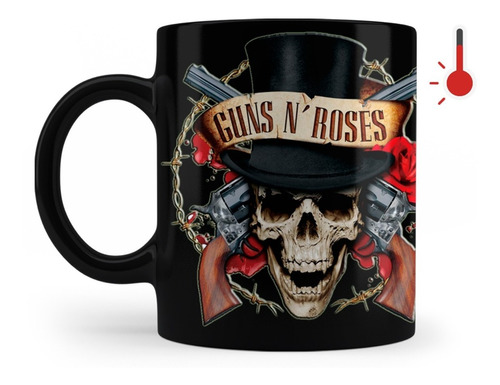 Taza Mágica Rock Guns And Roses