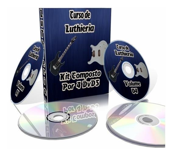 Curso Completo De Luthier Em 4 Dvds -vídeo Aula De Luthieria