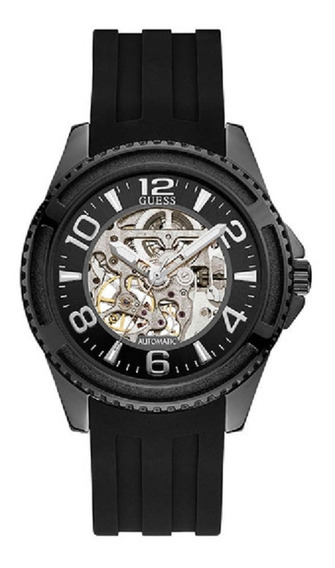 Relógio Masculino Guess Automatic 92736gpgspu1 Aço Negro