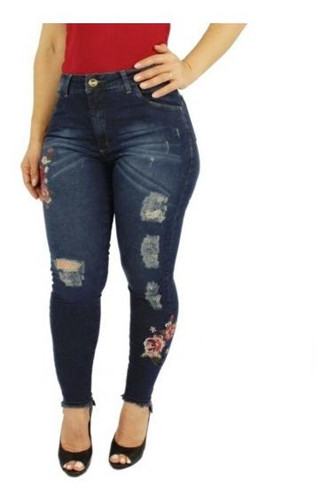 Calça Jeans Feminina Plus Size Lycra Tamanhos Grande 46 A 60