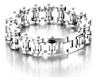 Bracelete Pulseira Masculina Aço Inoxidavel Corrente Moto